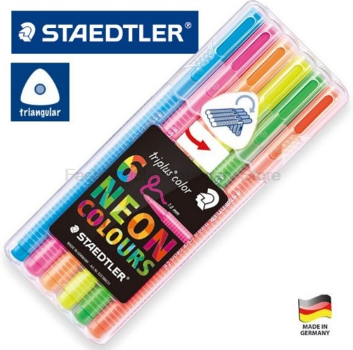 STAEDTLER 323 SB6CS1 6 color Highlighters set Emphasis Marker Writing Highlighters Students Study Supplies купить cs 1 6 за 15 рублей