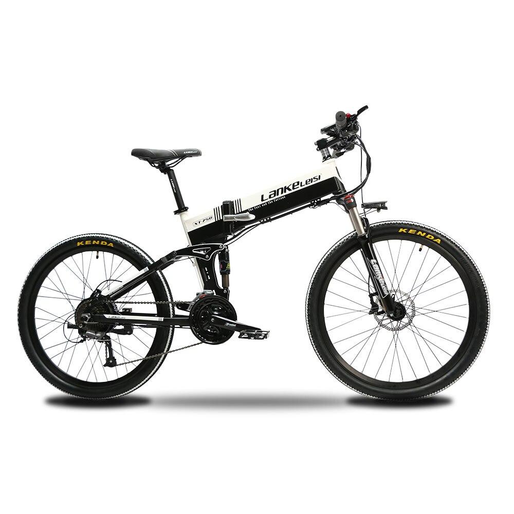 Lankeleisi XT750 Foldable Folding E Bike Electric Bike Full Suspenion Fork 12.8A Battery  27 Speeds 500W 48V Motor Smart|folding e-bike|electric bike|electric folding - title=