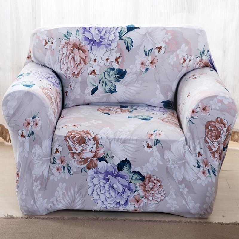 Pas cher Fleurs imprimer stretch housse de canapé ...