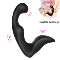 Gelugee masculino próstata masajeador anal vibrador silicona 7 velocidades Butt plug sexo Juguetes para hombres anal Juguetes masturbador masculino para adultos