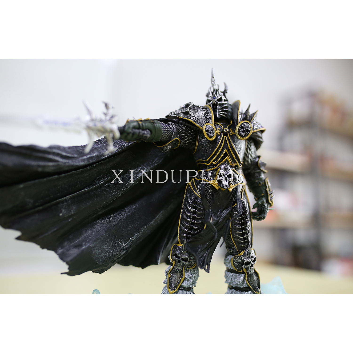 XINDUPLAN NEW Dota 2 Arthas Menethil Lich King Anime Action Figure Toys Cartoon Game 21cm PVC Kids Collection Model 0319 street fighter v chun li bigboystoys with light action figure game toys pvc action figure collection model toys kids for gift