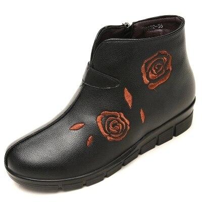 Mujer Algodón Cálidos Abrigo Señora Suave Zapatos Botas Rojo Cortas qfqItwF