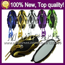 Chrome Rear view side Mirrors For YAMAHA YZFR6 05 YZF R6 YZF-R6 YZF600 YZF 600 YZF R 6 YZF R6 05 2005 Rearview Side Mirror