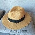Chapéu de palha Sir Lazer coringa edição han com trinta por cento chapéu de sol novo fêmea protetor solar uv chapéu na primavera e verão