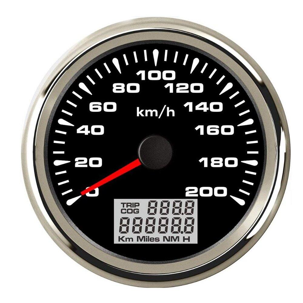 120km/h ,200km/h GPS Speedometer Gauge Boat Car Motor with 7 Color Back light Waterproof Digital Speedometer 9~32V-in Speedometers from Automobiles & Motorcycles    3