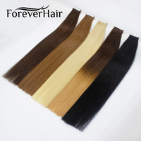 FOREVER HAIR Tape In Human Hair Extensions 16 18 20 100% Real Remy Human Hair On Adhesives Tape PU Skin Weft Invisible 20pcs