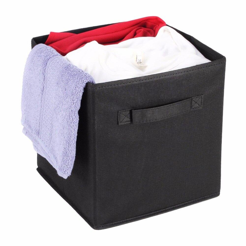 Fabric Cube Storage Bins, Foldable, Premium Quality Collapsible Baskets,  Closet Organizer Drawers(