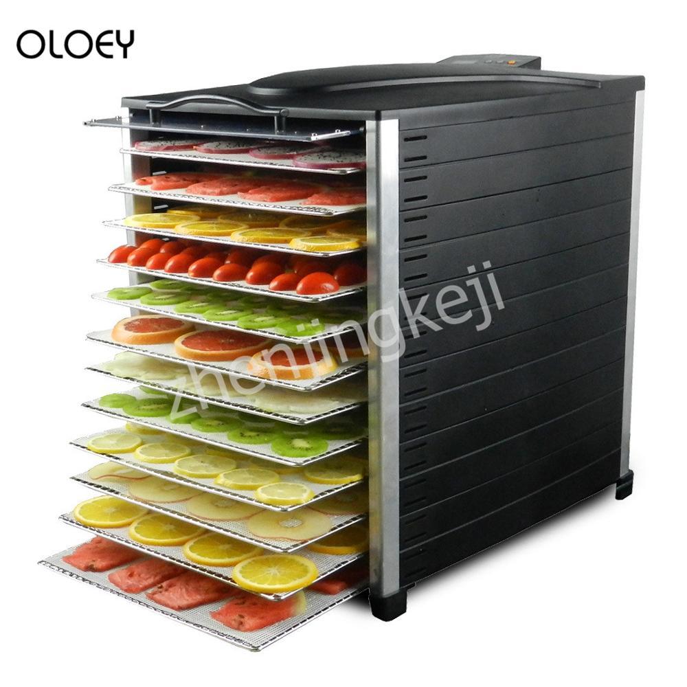 Dessiccateur de nourriture déshydratation rapide 12 couches d'économie d'énergie muet 110 V/220 V séchoir à Fruits pour déshydrateur de légumes et de Fruits