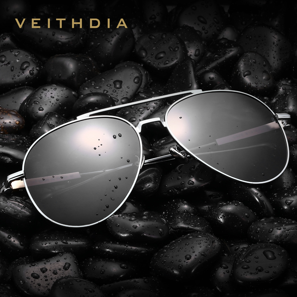VEITHDIA Brand Designer Mens Polarized Lens Sun Glasses Oculos masculino Male Sunglasses For Men Eyewears Accessories VT6696