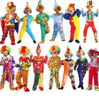 Crianças circo halloween palhaço cosplay trajes impertinente arlequim fantasia fantasia infantil menino menina carnaval festa suprimentos purim