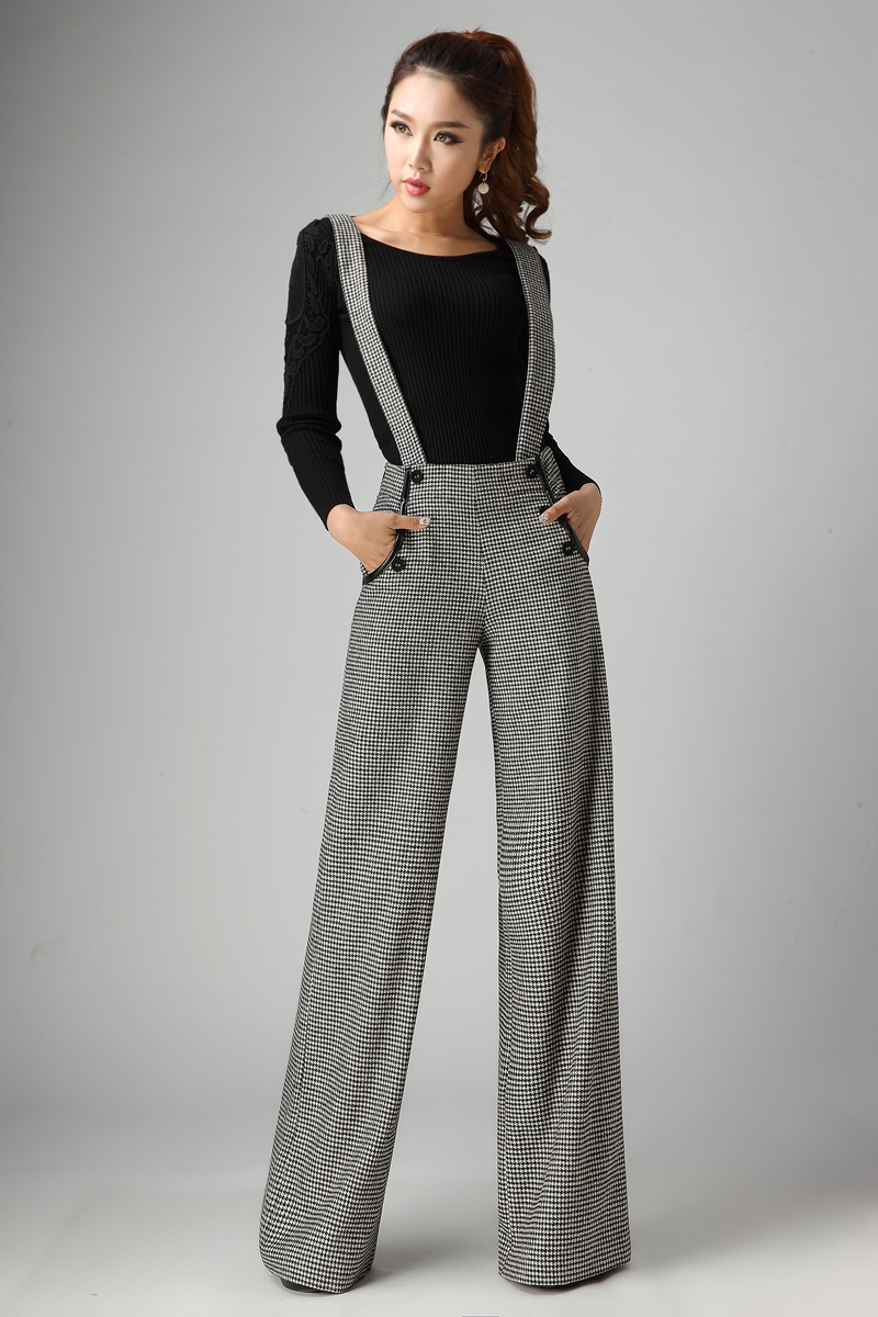 07e159cdc98b 2015 fall and winter clothes new wool woolen pants strap trouser long pants  women joggers jumpsuit free shipping-in Pants   Capris from Women s Clothing  on ...