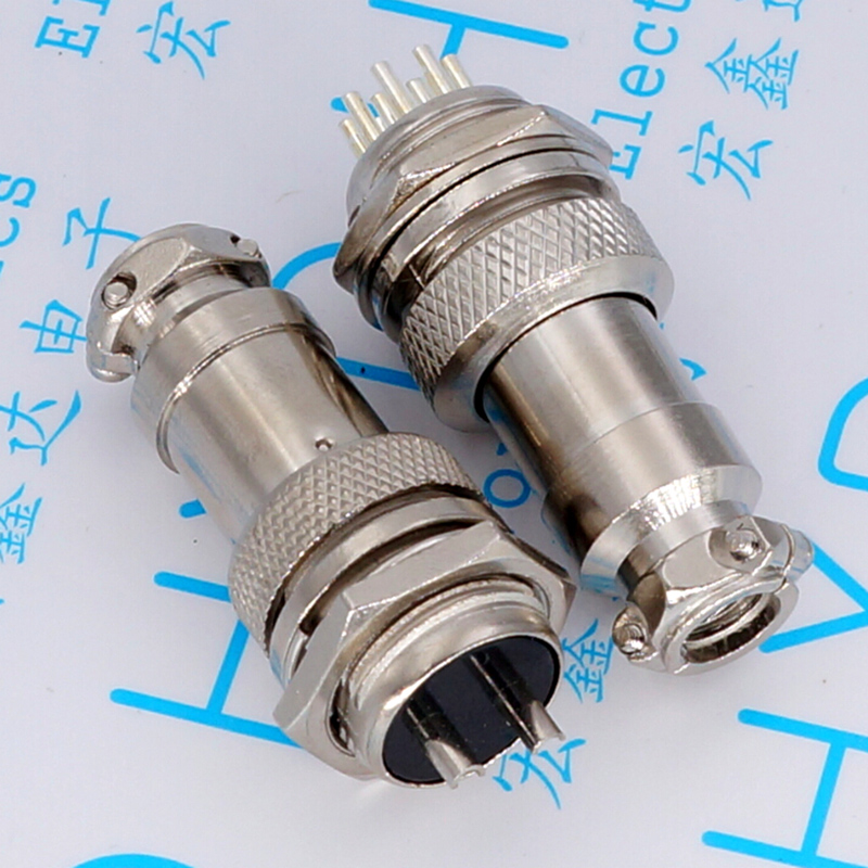 GX16 aviation plug diameter 16 mm connector male female pairs sell 2 p / 3/4/5 6/7/8/9 p core m12 aviation plug 8pins stragiht female or male plugs sensor connector socket connectors