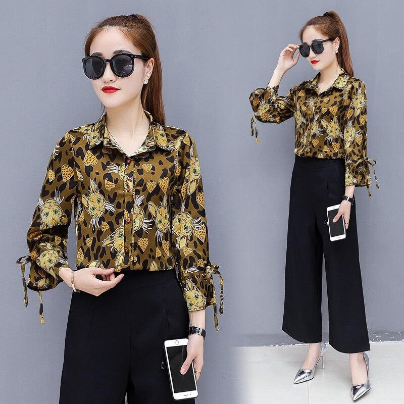 ca6e358f41 A Outfit Nero Pantaloni Abbigliamento Pezzi amp; 2xl Donne Ai Due S Adatti  Lady Larga Camicia Casual Gamba Spring Di ...