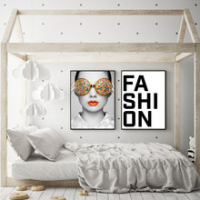 Abstract Glass Woman Nordic Posters And Prints Wall Art Canvas Painting Figure Decoration Picture For Living Room Decor(China)