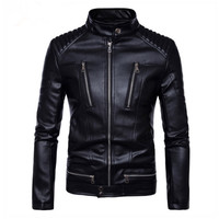 Natural Leather Windbreaker Moto Biker Coat Cow Leather Jackets Men Bomber Winter Motorcycle Jacket Mens Hombre Fashion Clothes