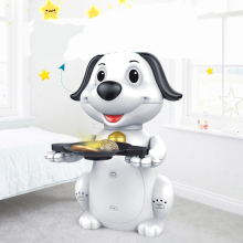 New Creative Hungry Dog Coin Bank Lucky cute Dog Electric Money Swallowing Music Piggy Bank Money Saving Box Kids Gift