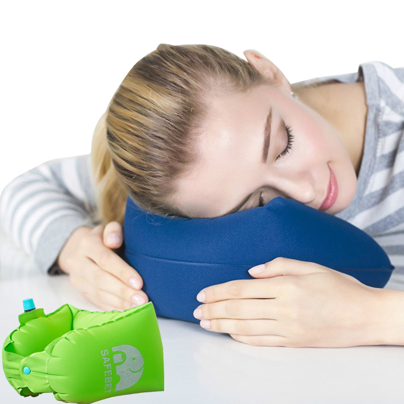 Rectangle Protection Pillow Multifunction Protect Neck Waist Travel Accessories Office Rest Portable Inflated Pillow Supplies