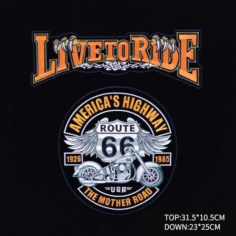 5706dc9b ... PGY Cheap Punk Rock Bike Patch Large Embroidery Biker Patch Motorcycle  Iron On Patches For Clothes ...