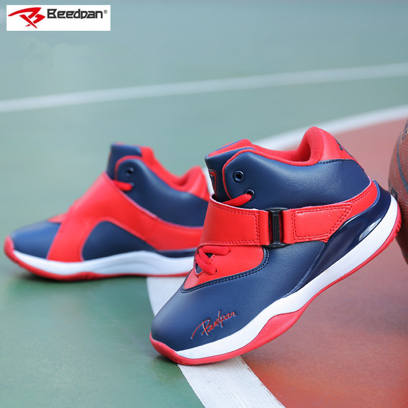 Beedpan Brand Boys Shoes Kids Sneakers Children Casual Shoes Non-slip Boys Sneakers Basketball Leather Boys Sport Shoes Running jrqiot 2017 new children high top shoes sneakers girls boys shoes sneakers high quality kids shoes sneakers for child 2