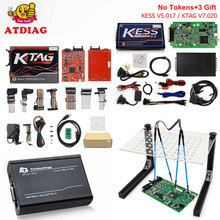 Rot EU Online Version KESS V5.017 V2.23 Kein Tokens Begrenzung KTAG 7,020 Manager Tuning Kit FG TECH V54 ECU Programmierer Led BDM rahmen