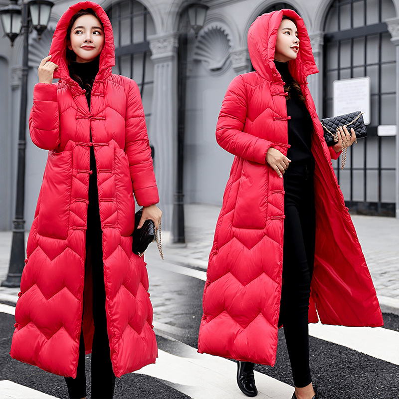 83c1474d0c1 Detail Feedback Questions about Elastic Hooded Winter Down Coat Jacket Long  Warm Women Casaco Feminino Abrigos Mujer Invierno 2018 Parkas Outwear  Cotton ...