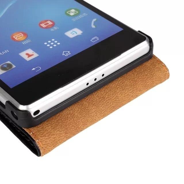 Sony Xperia Z2 D6503 dəri qutusu üçün ulduzlu nazik Maqnetik - Cib telefonu aksesuarları və hissələri - Fotoqrafiya 5