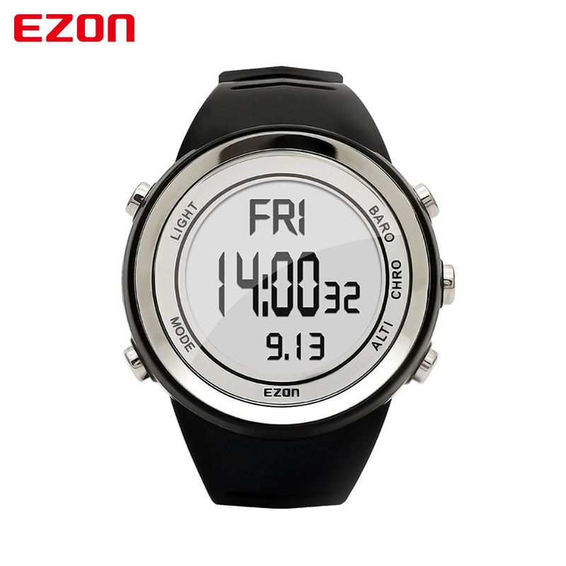 EZON Digital-Watch Men Watches Outdoor Digital Watch Clock Altimeter Barometer Thermometer Altitude Climbing Hiking Hours north edge men sports watch altimeter barometer compass thermometer weather forecast watches digital running climbing wristwatch