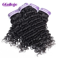 Ccollege Deep Wave Brazilian Hair Weave 1piece/Lot Deals Remy Hair 8 28 Inch Nature Color Human Hair Extensions Sales
