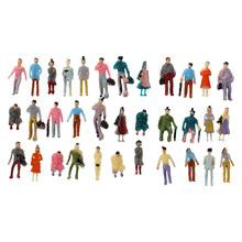 Hot 100pcs Model People Mini HO Scale 1:150 Painted Model People Mix Painted Model Train Park Street Passenger People Figures(China)