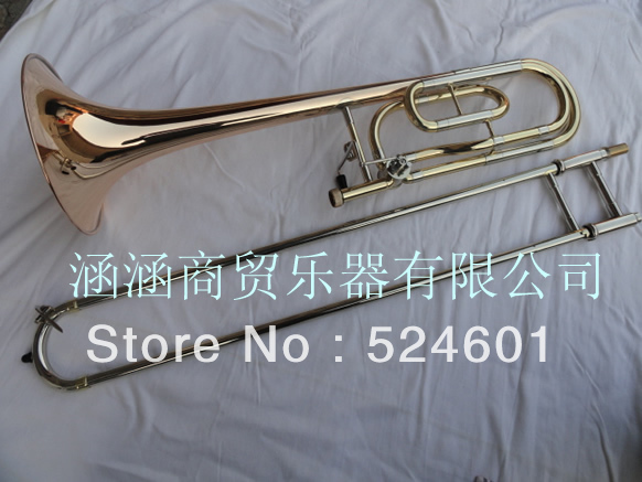 Cheap BACH beautiful YBL-421G sandhi tenor trombone 85 alloy copper speaker tenor Bb trombone Gold Lacquer Professional trombone