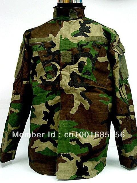 Camouflage boisé britannique au FG ACU numérique Camo BDU uniforme chemise pantalon