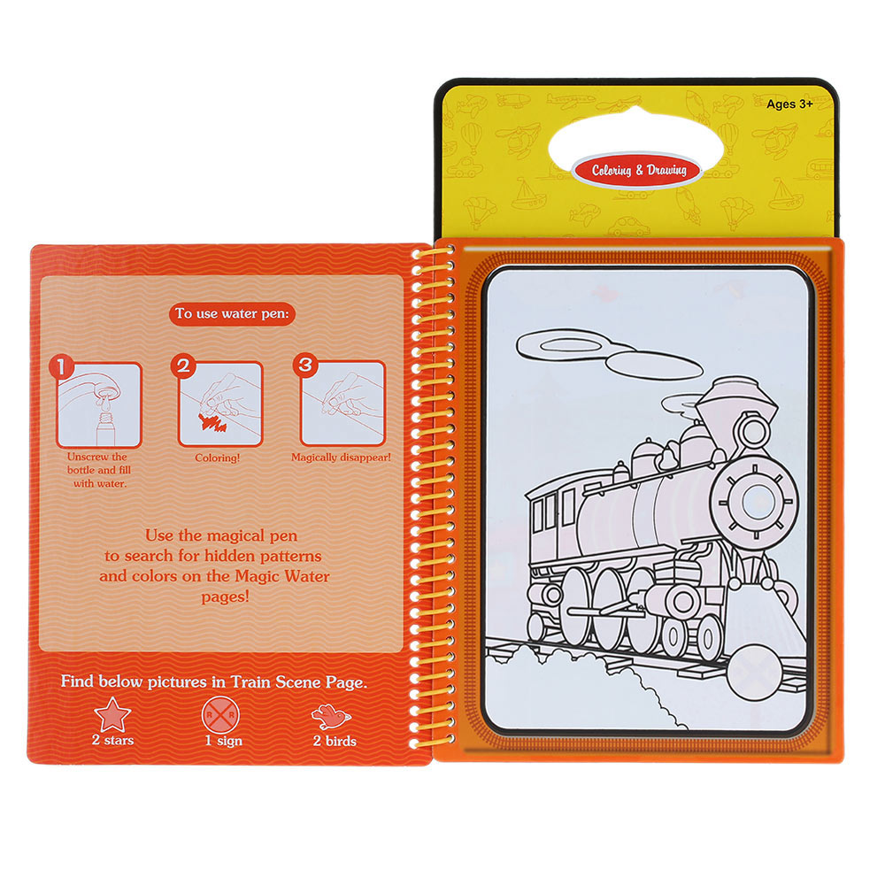 5 Type Water Drawing Book Magic Coloring Book Doodle with Magic ...
