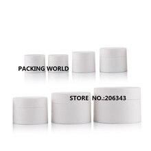 30G blanco esmerilado de plástico tarro de crema para los ojos/crema muestra/essence/arte de uñas cosmética olla/moisturier embalaje cosmético