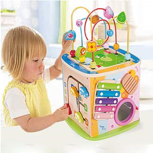 Garçons filles jouets en bois cercles en bois perle fil labyrinthe rouleau éducatif bois Puzzles enfant jouet cadeaux de noël enfants nouveau