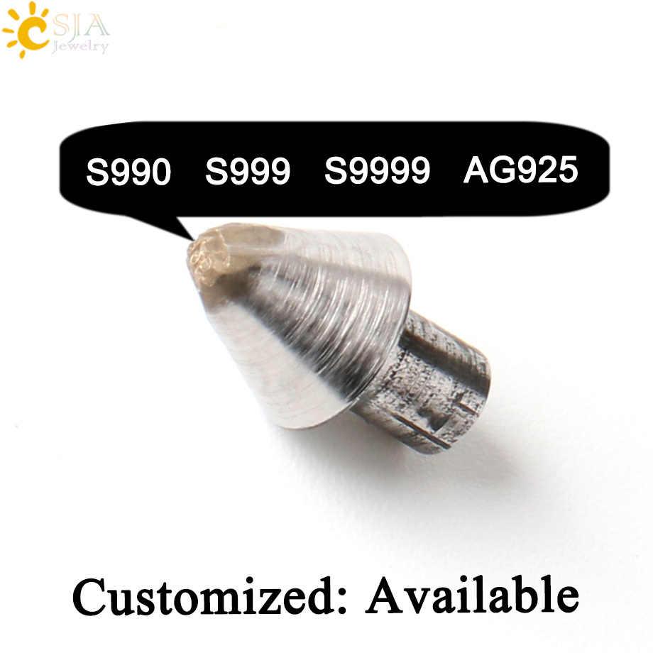 CSJA เงินเครื่องประดับ S990 S999 S9999 AG925 แสตมป์เครื่องมือโลหะเหล็กแม่พิมพ์ Woman Man แหวนกำไลข้อมือพิมพ์ Mark สำหรับเครื่องประดับทำ E541