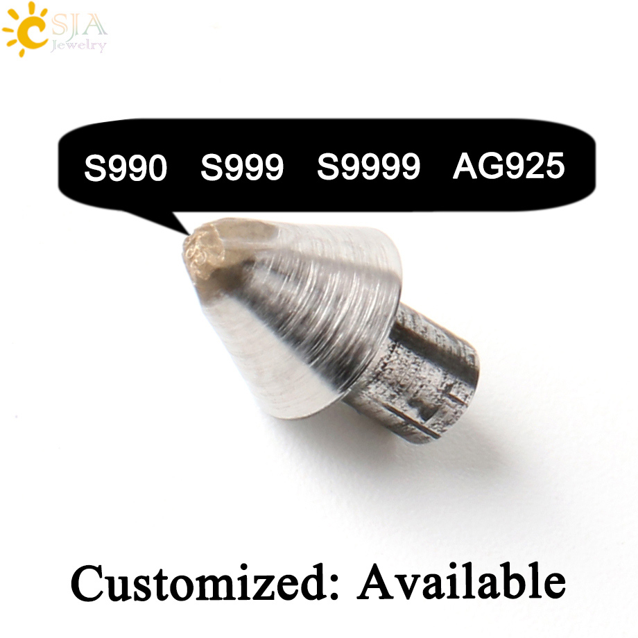 CSJA Silver Jewelry S990 S999 S9999 AG925 Stamp Tool Metal Steel Mold Woman Man Ring Bangle Print Mark for Jewellery Making E541 zonesun customize jewelry buckle mark stamp tool gold sterling silver ring bracelet earring metal steel punch mold