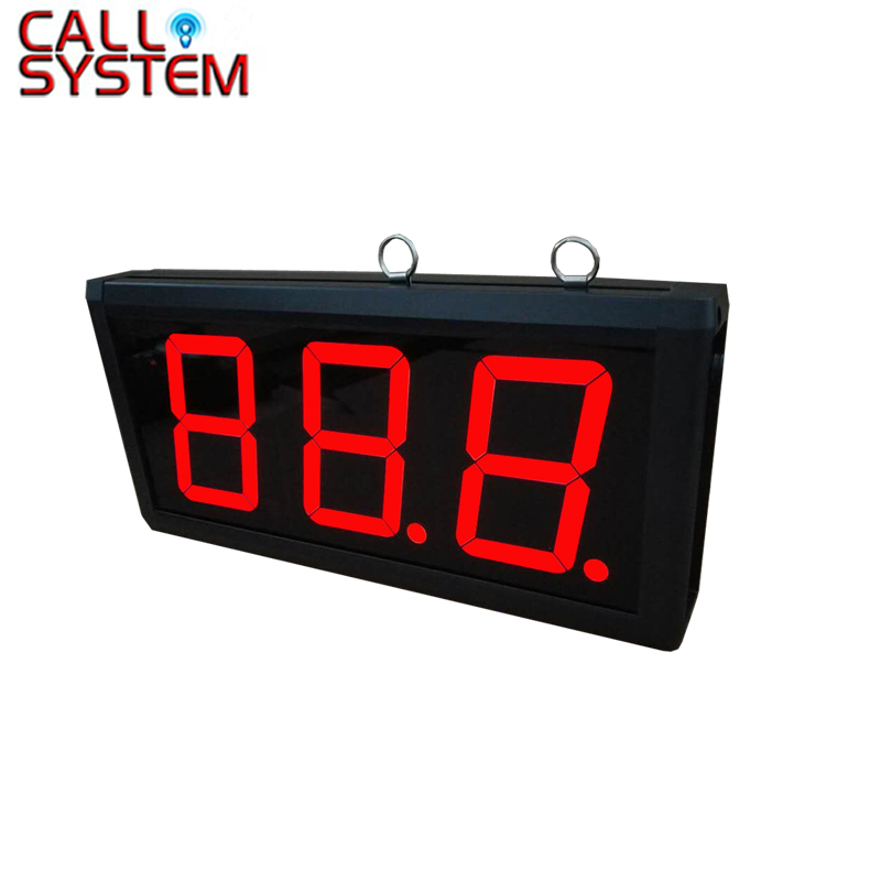 3-Digit Number Wall amounted Wireless Call Bell System Display Receiver K-403 wireless bell button for table service and pager display receiver showing call number for simple queue wireless call system