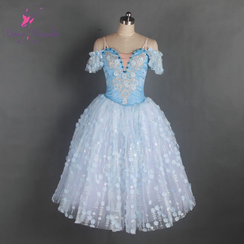 New arrival Pale blue long romantic ballet tutu professional dance costume women and Girl stage costum e tutu ballerina tutu