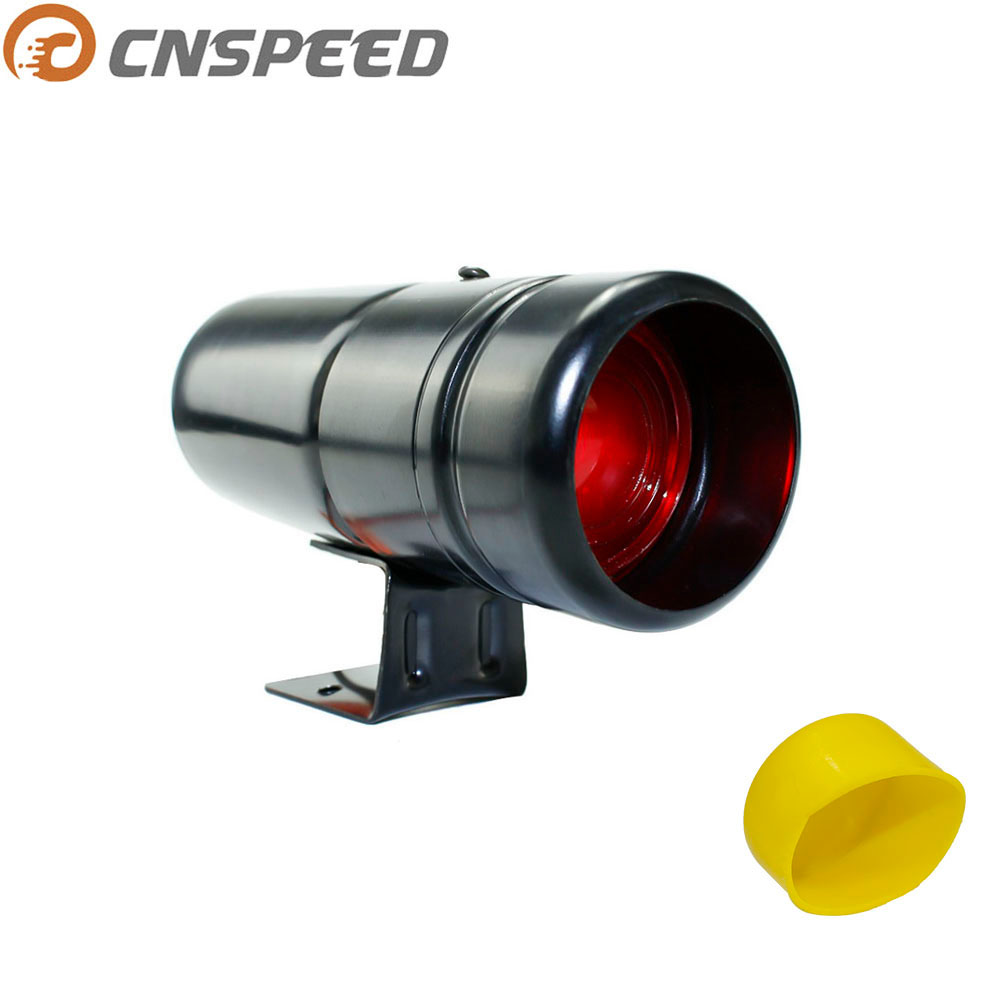 자동 1000-11000RPM 타코미터 게이지 시프트 라이트 레드 램프 조절 자동차 타코미터 미터 경고 노란색 게이지 YC100137