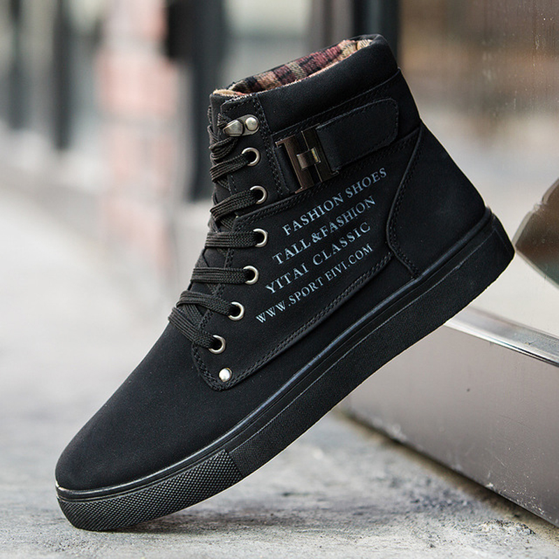 6 Colors Spring Autumn Men's Skateboarding Shoes High Top Sneakers Men British Style Comfortable Skateboarding Sneakers Sports
