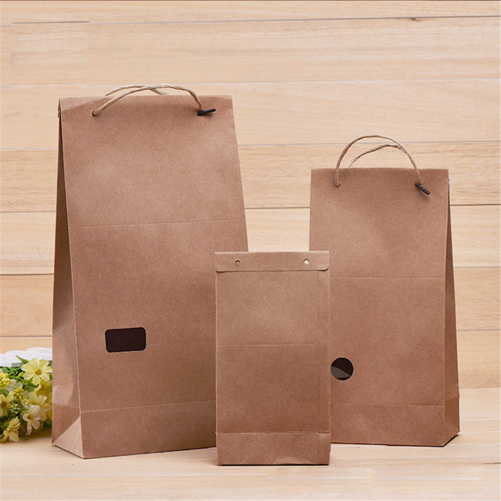 Popular craft paper gift bag with handles buy cheap craft paper eco friendly moisture proof portable paper bag party bags craft with handle strap paper jeuxipadfo Choice Image