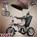 Твердое колесо безвоздушного шины ходунки для ниже 3 лет моды сложенный детский трехколесный велосипед просты в эксплуатации ребенка уокер