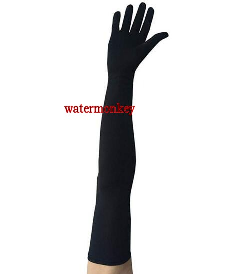 "Watermonkey 22"" classic Sexy long Adult Spandex Lycra Costume Gloves High Elastic Gloves Driving Hand guards Dance Glove"