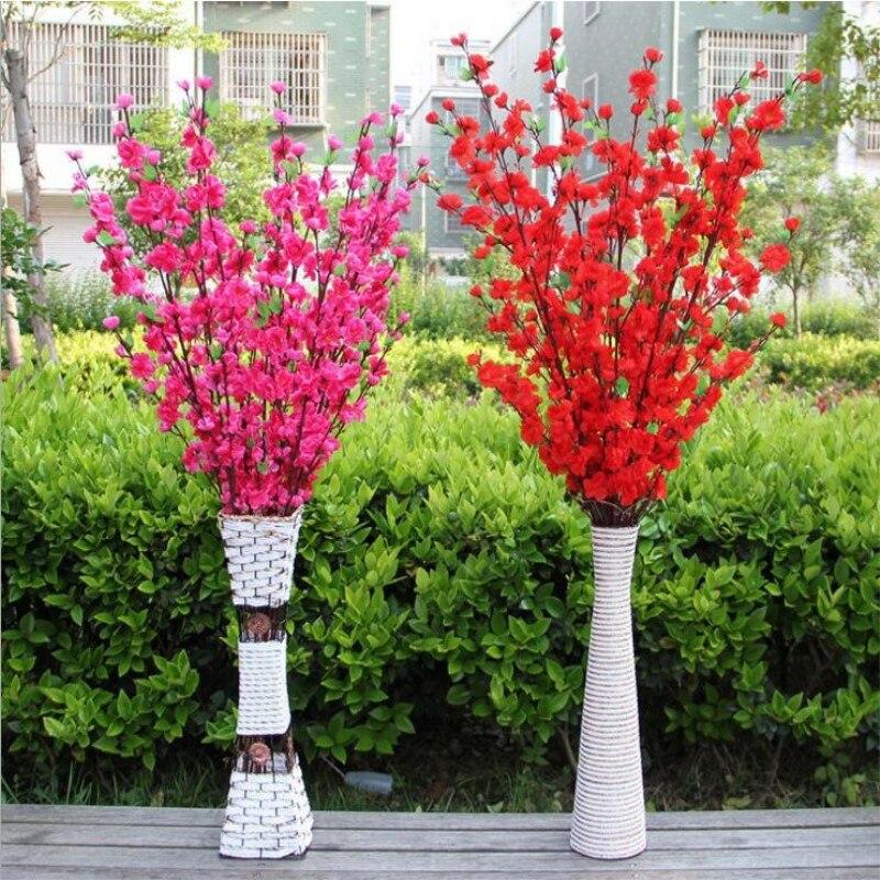 Ciliegio artificiale Spring Plum fiori di Pesco Ramo Fiore Di Seta Albero di Ciliegio FAI DA TE Wedding Party Decor Ornament - 6