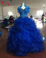 Jark Tozr Newest Listing Beading Crystal Shiny Quinceanera Dress For Girl 2017 Sweet 16 Dresses Sky