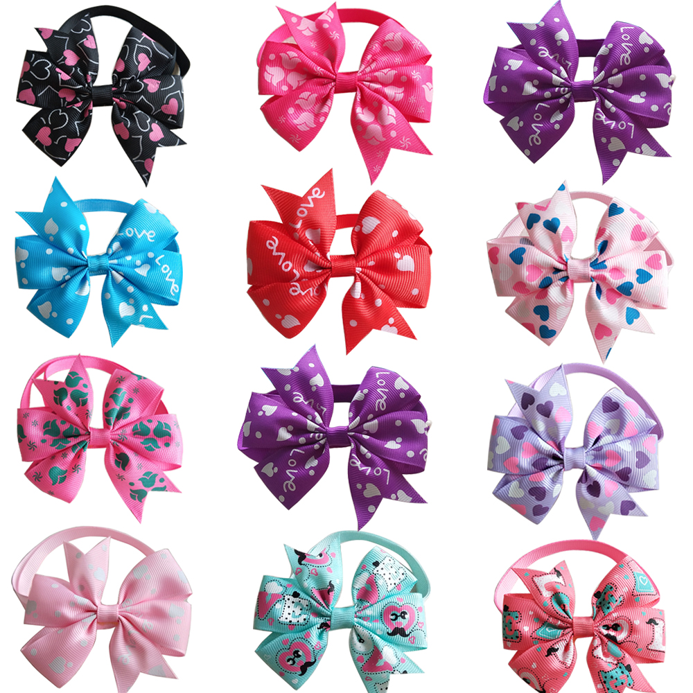 2019 New 100pcs Pet Dog Cat Bowties Neckties Valentine s Day Pet Cat Accessories Love Style