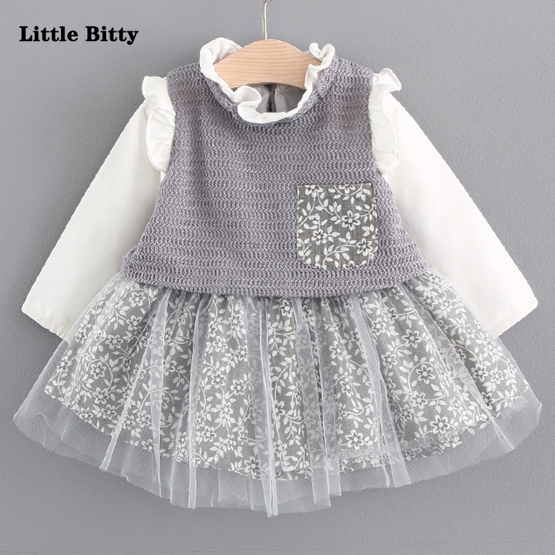 Autumn Baby girl clothing long sleeve dress for 1-3year baby girl clothes pink princess dresses mother nest 3sets lot wholesale autumn toddle girl long sleeve baby clothing one piece boys baby pajamas infant clothes rompers