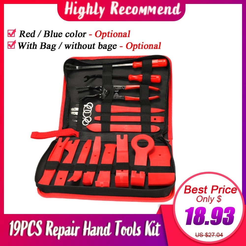 19PCS Trim Removal Installer Tool Set Car Panel Removal Auto Trim Removal Pry Repair Tool Kit