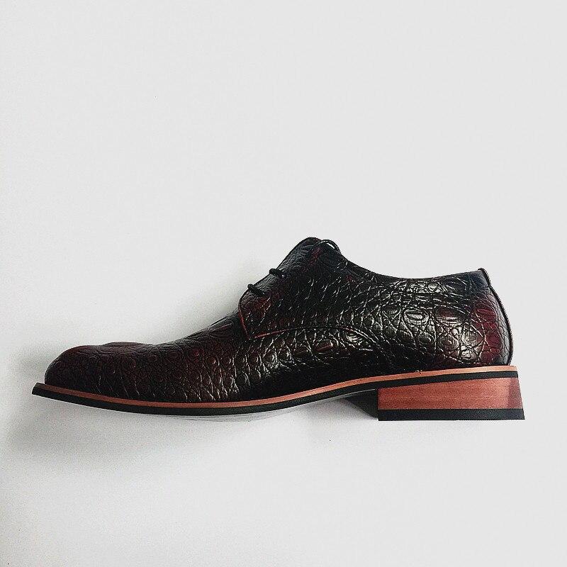 Respirável Masculinos Britânico Estilo 022 Masculina Toe Couro Moda Casamento Up azul vermelho Lace Sapatos Flats Preto Casual Oxfords Apontado De O66dqw