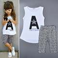 Summer Kids Girls Clothing Sets Outfits Cartoon Leopard Girl Kids Clothing Set Outfits Summer Kids Set For Girl Clothing Outfits